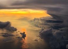 sunrise over Indonesia