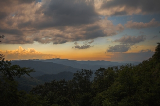 Cherohala Skyway (during a total solar eclipse), Tennessee